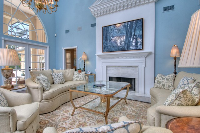 Oyster Bay traditional-living-room