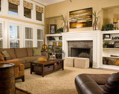 Family Room Makeover - out with the old... traditional living room