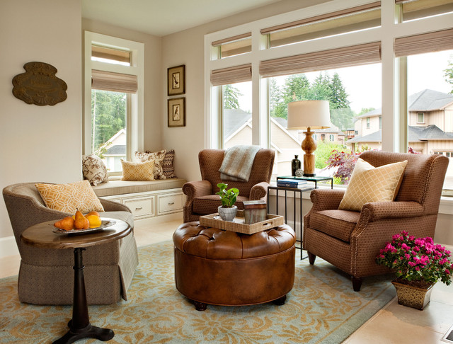 Basic Sophisticated Hues Traditional Living Room