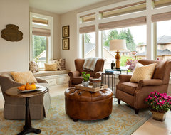 Basic, Sophisticated Hues traditional living room