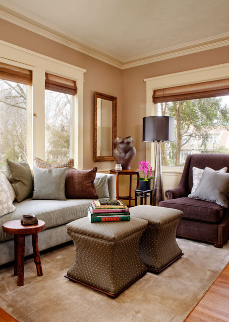 Classic colonial revival update traditional living for Classic traditional living rooms