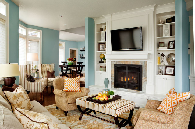 Basic sophisticated hues traditional living room for Basic interior design tips