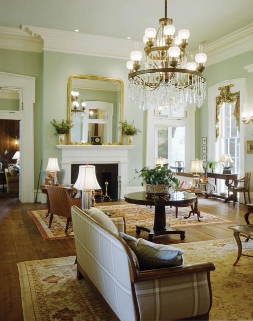Plantation Style Southern Estatetraditional Living Room Atlanta