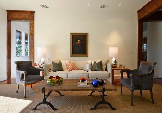 Fresh texas tradition traditional living room austin for Texas themed living room
