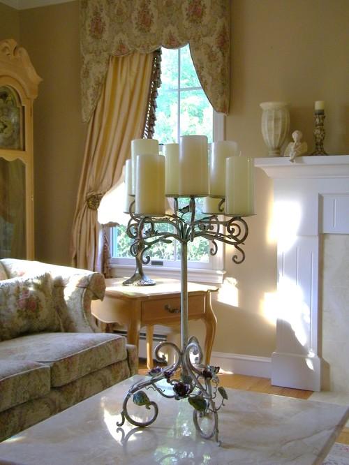 Window treatment ideas for Romantic living room decorating ideas