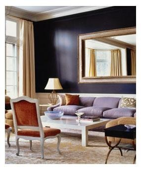 Color of the month decorating with aubergine abode for Aubergine living room ideas