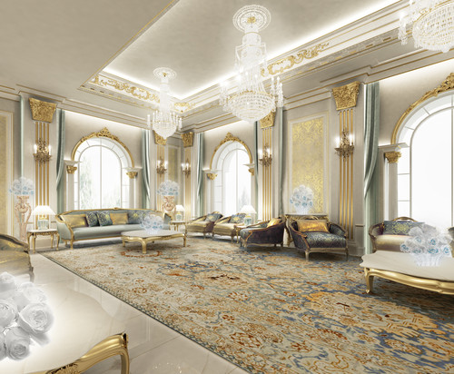 Traditional living room by other metro architects for Living room designs in dubai