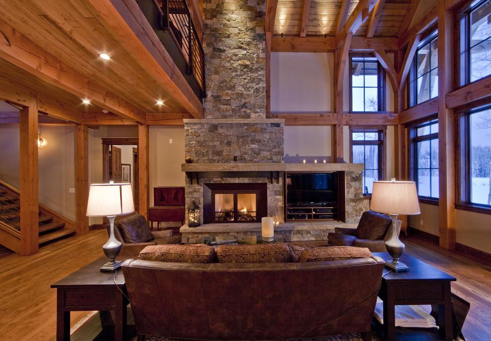 Huge elegant living room photo in Denver
