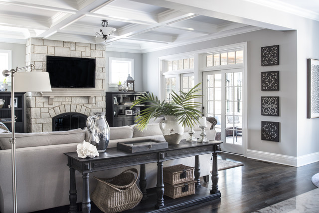 Beautiful Gray Traditional Living Room Other By Kristin Petro Interiors Inc