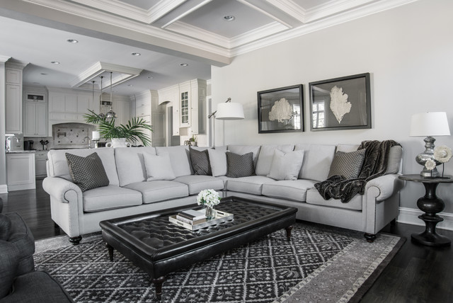 Beautiful gray traditional living room other metro for Beautiful traditional living rooms