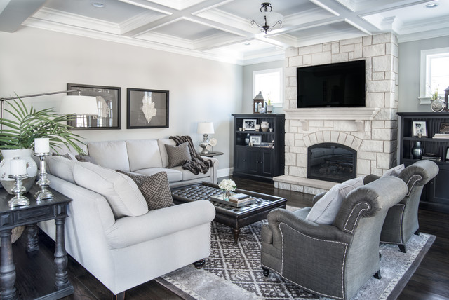 Beautiful Gray Traditional Living Room Chicago By Kristin Petro Interiors Inc