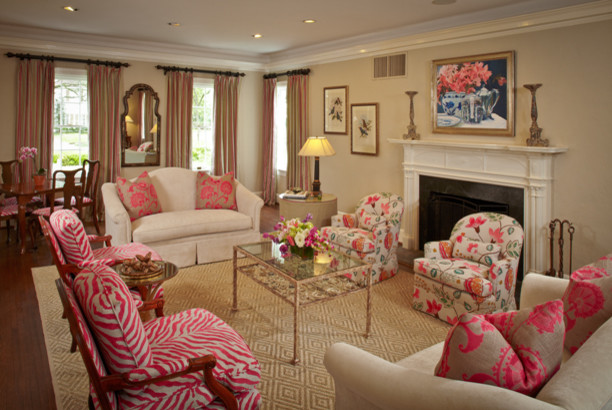 Redo Of Dated Living Room And Dining Room Traditional Living Room Houst