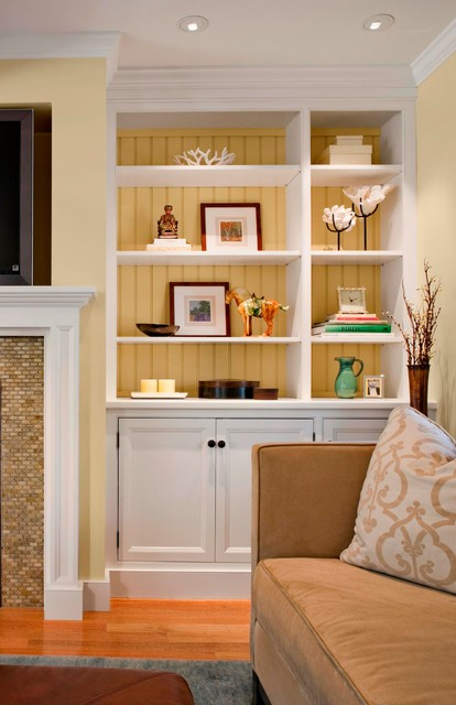 surprising new england style living room | Classic New England Cape - Traditional - Living Room ...