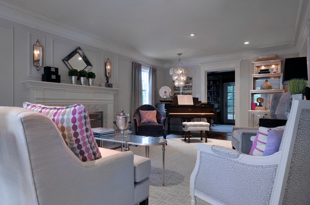 Silver Lining traditional-living-room