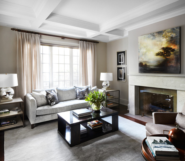Kingsway home traditional living room toronto by - Traditional contemporary living room ...