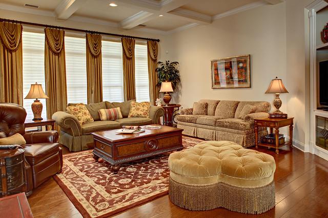 French Inspired Living Room traditional-living-room