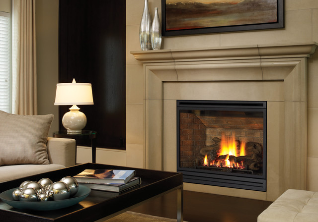 Regency bellavista b41xte gas fireplace traditional living for Modern living room gas fires