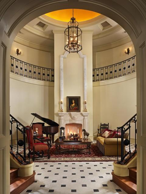Italian Villa traditional-living-room