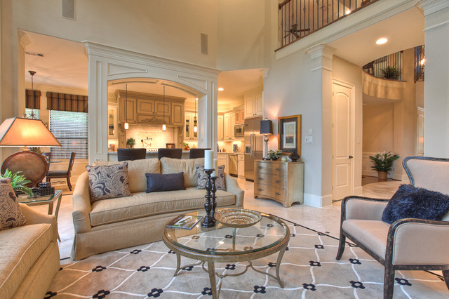 Elegant, classic and expansive design traditional living room