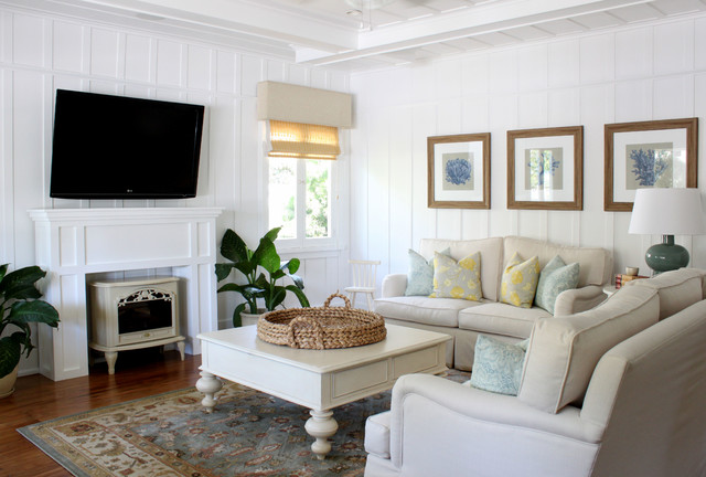 Beach cottage traditional living room orange county for Beach house interior decorating ideas