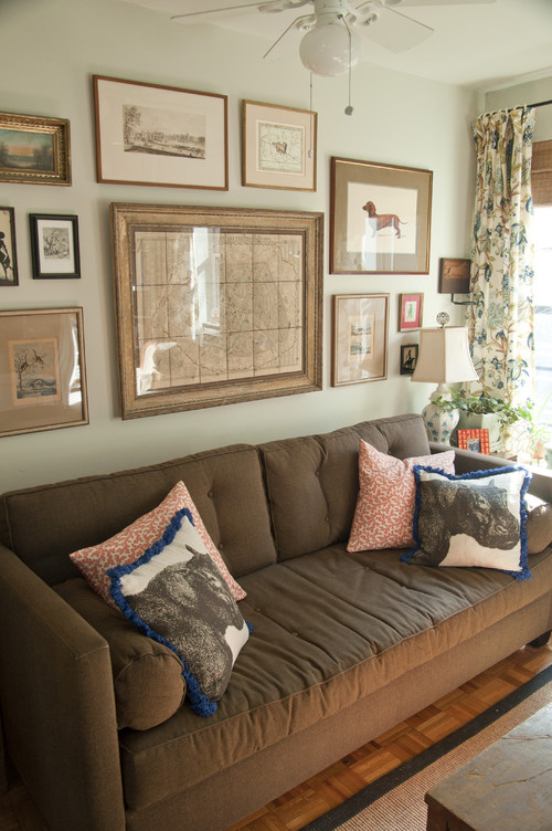 Living Room Decorating Ideas For Dark Brown Sofa house revivals: 17 pretty ways to decorate with a brown sofa