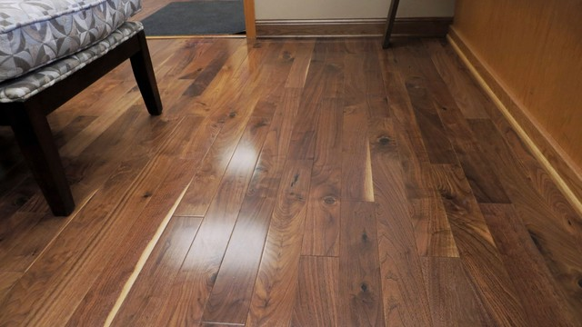 Prefinished American Walnut Natural Engineered Plank - Traditional - Engineered Wood Flooring ...