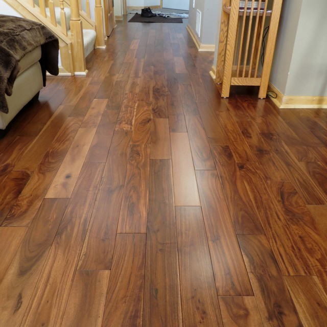 Acacia asian walnut bronze smooth hardwood flooring for Traditional flooring