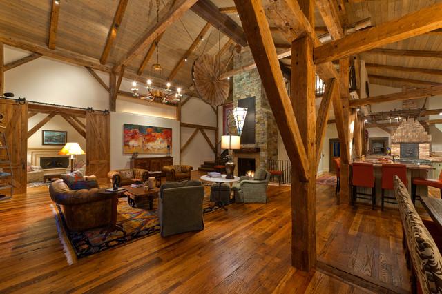 Telluride Barn Traditional Living Room Denver By