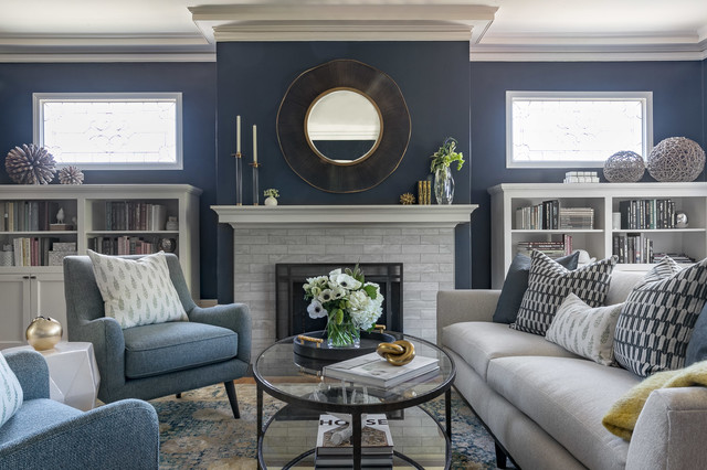 Traditional Living Spaces Get a Contemporary Makeover living-room