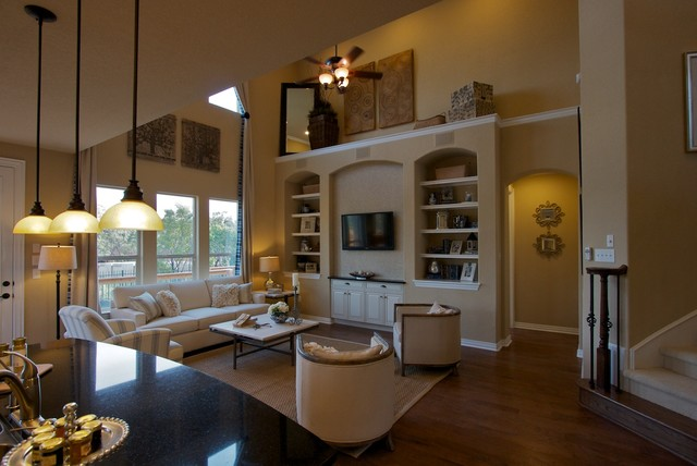 Traditional model home eclectic living room other for Traditional eclectic living rooms