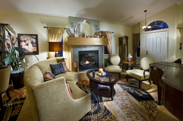 Traditional modern livingroom eclectic living room for Traditional eclectic living rooms