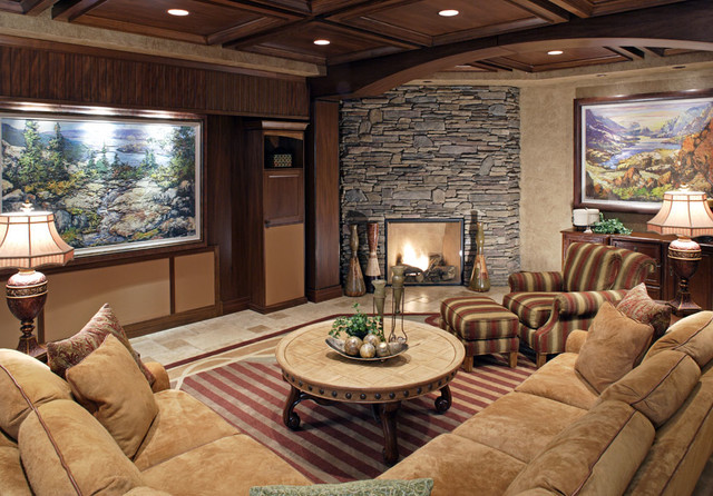 Traditional Residential eclectic-living-room