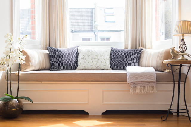 traditional shaker style window seat traditional living room london by melissa carla. Black Bedroom Furniture Sets. Home Design Ideas