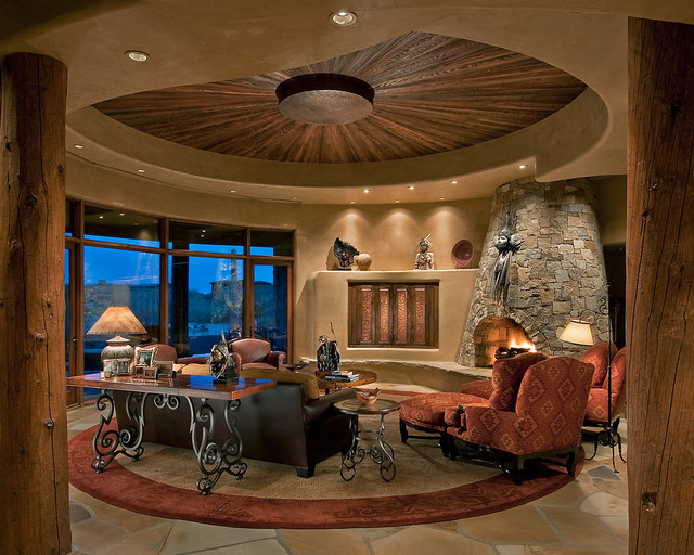 Traditional southwest territorial southwestern living for Territorial home design