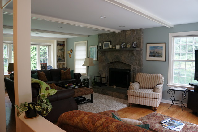 Traditional Spaces Eclectic Living Room Boston By Kitchen Center Of Framingham
