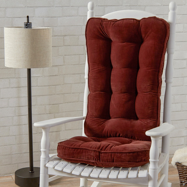 Madrid Taupe Beige Ultra Modern Living Room Furniture 3: Traditional Style White Rocking Chair With Burgundy