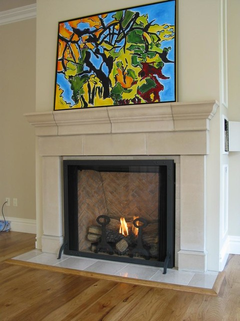 Traditional town and country fireplace traditional for Country home and hearth