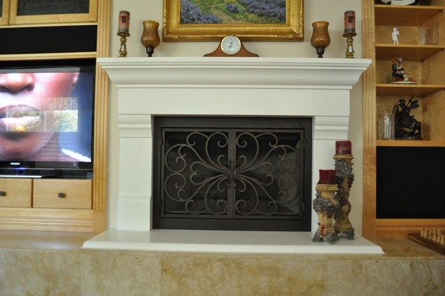 AMS Fireplace Doors Remodel Ideas - Traditional - Living Room - San Diego - by AMS Fireplace