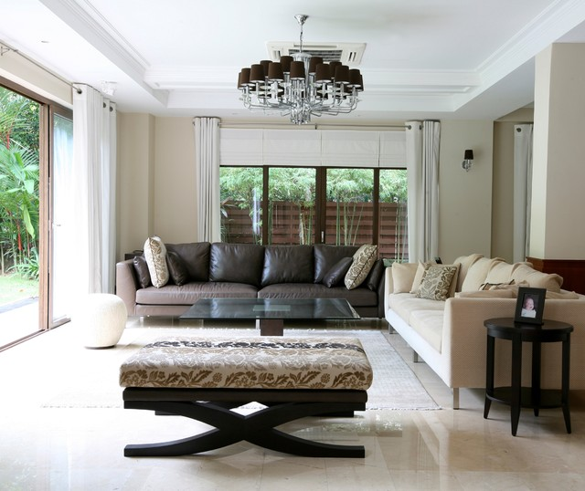 Tranquil Contemporary Chic by Design Intervention living-room