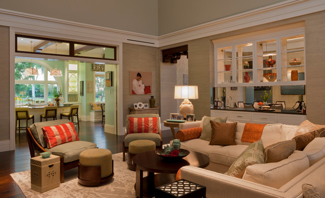 eclectic living room by deakins design group