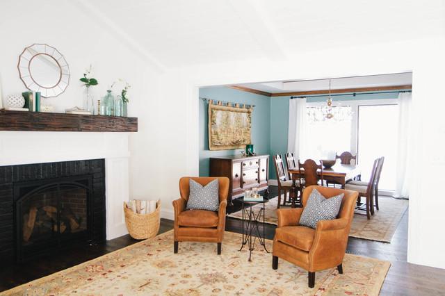 Transitional Cottage Transitional Living Room Salt