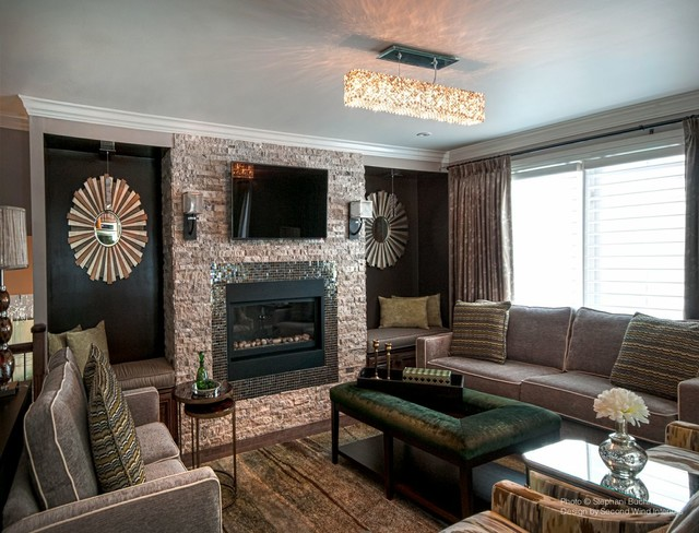 Transitional country home transitional living room for 2nd living room ideas