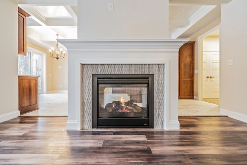 Fireplace in Custom Home in Rochester NY