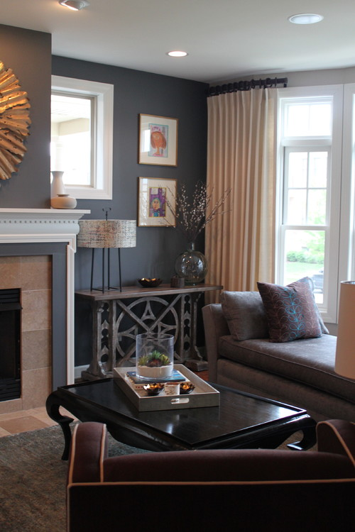 Love The Console Table Next To Fireplace