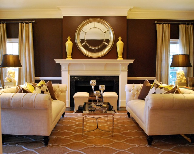 Transitional formal living room traditional living for Living room atlanta