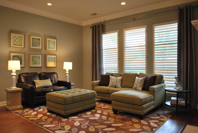 Transitional formal living room traditional living - Transitional style living room ...