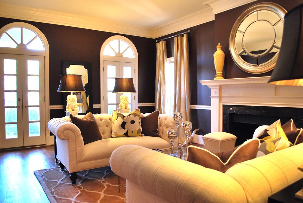 Example of a classic living room design in Atlanta
