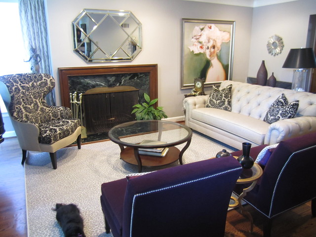 Transitional Living and Dining traditional-living-room