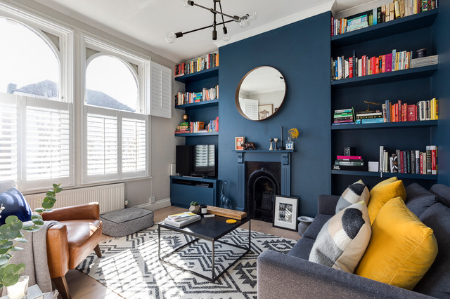 Navy Blue Living Room Ideas Houzz Uk
