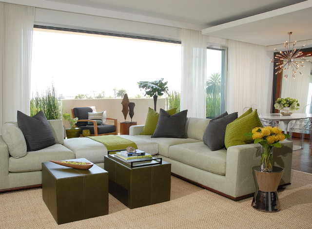 Sky High in Los Angeles transitional-living-room